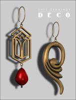 Just Earrings Deco p3 by inception8