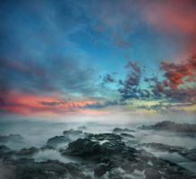 Misty Sea Premade Background by little-spacey