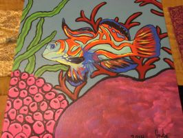 Mandarian Fish Painting by JadasArtVision
