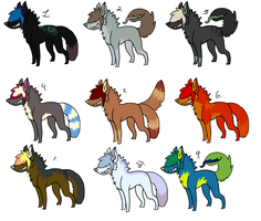 Scene Dog/ Tailmouth Adoptables CLOSED by InfectedZombieX
