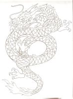 asian dragon tattoo design by Nehemya