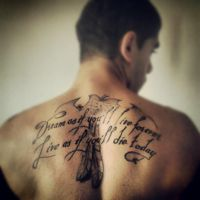James Dean tattoo quote by PeterVsAll