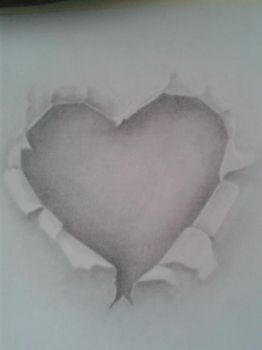 Heart from paper #2 by asganafer