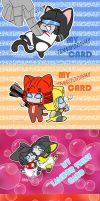 my card stickers by umitaro