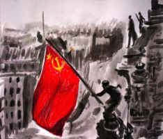 Raising the flag over the Reichstag by Ali-Radicali