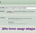 How to Submit to Group Folders by LostKitten