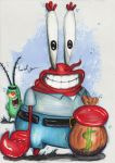 Mr. Krabs and Plankton by Fouad-z