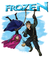 Disney-Frozen Anna and Kristoff  Climbing by ChiehChen