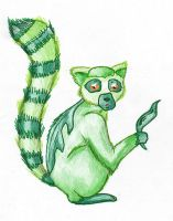 Leafmur : ring-tailed pokemon by samuraXIV