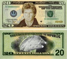 Han Solo Twenty Dollar Bill by MuffMuff