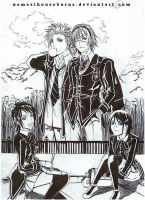 Bleach and DGM - school day by NemesiHouseburns