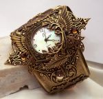 Steampunk Watch Floral V2 by Aranwen