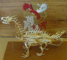 dragon skeleton. yr11 major by Menitti