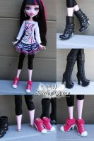 Modded Draculaura Bratz Shoes by KittRen
