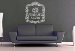 Make Today Ridiculously Amazing Wall Decal by GeekeryMade
