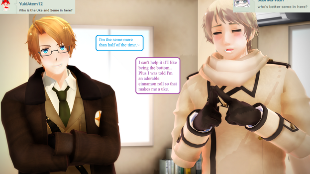 Ask RusAme Question 2: Seme and Uke? by MMD-AskRusAme
