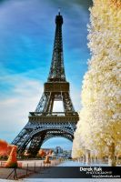 Eiffel Tower IR by vazagothic