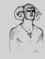 Hunky man with horns. by imaginarium
