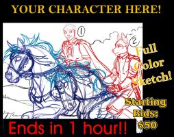 2nd Slot has NO BIDS!!  YCH Auction by lady-cybercat