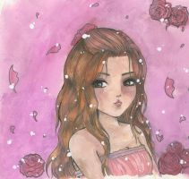The girl with the roses by Earth9uake