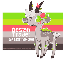 Design Trade: Spazzing-Owl by StrawberrySplatters