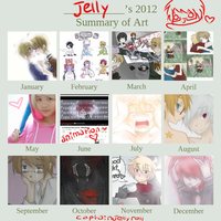jelly's 2012 art summary thing by CaptainJellyroll