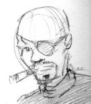 Nick Fury Mini-sketch by kurtoons