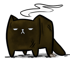 Burnt Cat Loaf by pickles-4-nickles