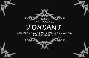Fondant typeface poster by ChickenChasser
