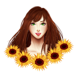 Sunflowers, sunflowers everywhere! by Purinsesu-sama