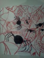 Spider Wall Painting by Kongzilla2010