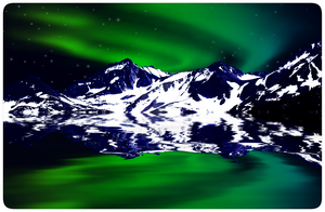 Green and Blue Northern Lights by Christi-Dove