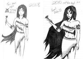 How my freehand changed by VampireRose7