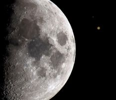 The Moon, Mars, and Jupiter by Ryom