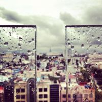 raindrops on glass by PaintGirl-just-one