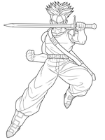 Future Trunks SSJ 1st preview by drozdoo