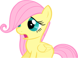 Startled Filly Flutteshy by THExXLR8TER