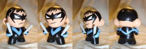 Nightwing Munny by n3gative-0