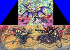 .:Ghost Blaze VS Shadow:.Hell Riders Of Judgement by AceOfSpeed94