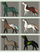 Horse adopts batch 2 by PaleMount