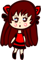 Kawaii Dark Neko Chibi by Faery-Rainbow