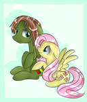 Fluttershy and Lithuania by Isabella-kisabella