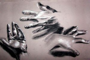 Life Painting - Hand Drawings by Ialaluce