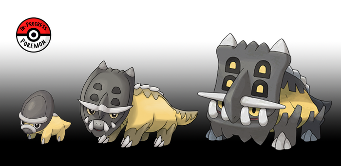 410 - 411 Shieldon Line by InProgressPokemon