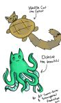 Waffle Cat And Octocat  by strangetail