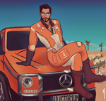 danse visits new vegas in a g-class commission by soularch