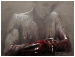 Blood on his hands by ihni