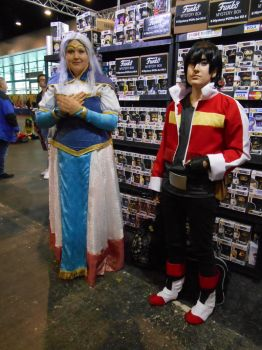 GCC Frankfurt 2017 cosplay: Allura and Keith by Lalottered