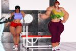 Renie and Emma In The Gym 01 by dolemitesh3