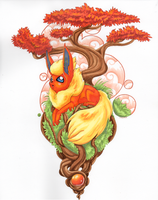 Flareon Traditional series by Lazeros